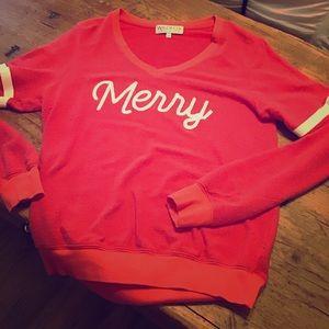 Wild fox red a Merry sweater/sweatshirt